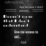 Speak AAC poster