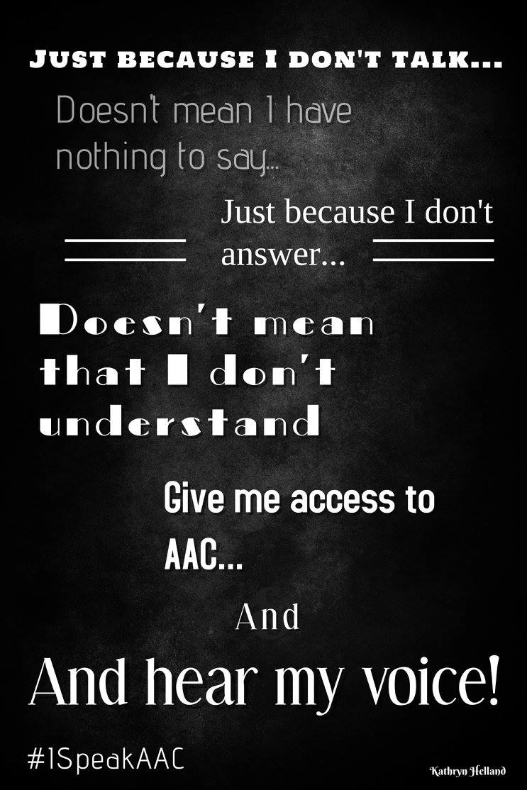 Speak AAC poster