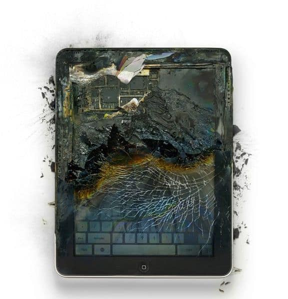 Burned iPad