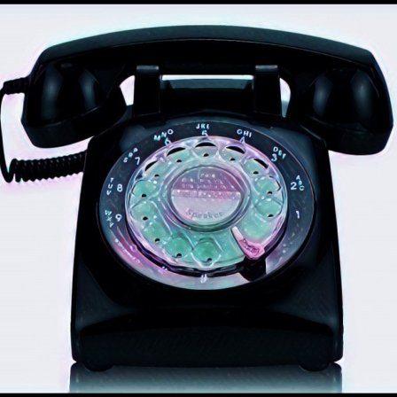 Old rotary dial phone cartoon