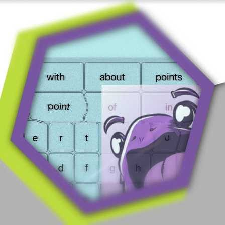 Image of Jabberwocky app icon over a keyboard.